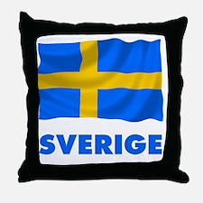 Cute Swedish moose Throw Pillow