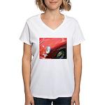 The Little Red Porsche Women's V-Neck T-Shirt