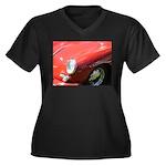 The Little Red Porsche Women's Plus Size V-Neck Da