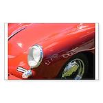 The Little Red Porsche Rectangle Sticker