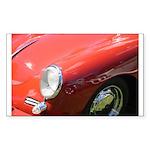 The Little Red Porsche Rectangle Sticker 10 pk)