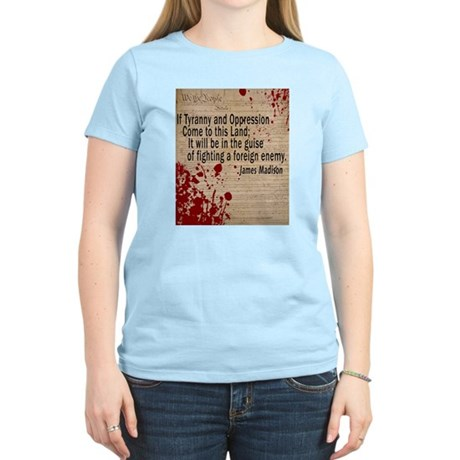 Blood on the Constitution Women's Light T-Shirt
