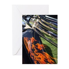 Fire and Chrome Greeting Cards (Pk of 10)