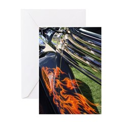 Fire and Chrome Greeting Card