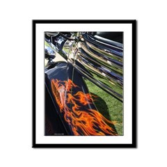 Fire and Chrome Framed Panel Print