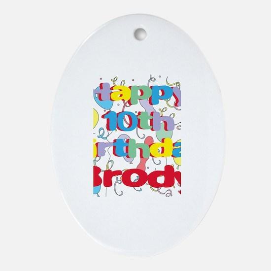 Brody's 10th Birthday Oval Ornament
