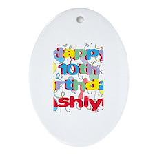 Ashlyn's 10th Birthday Oval Ornament