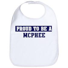 Proud to be Mcphee Bib