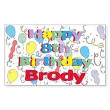 Brody's 8th Birthday Rectangle Decal