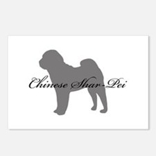 Chinese Shar Pei Postcards (Package of 8)