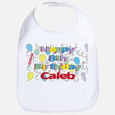 Caleb's 8th Birthday Bib