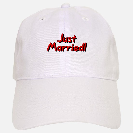 Just Married! (Red) Baseball Baseball Cap