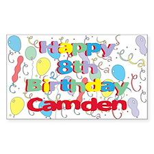 Camden's 8th Birthday Rectangle Decal
