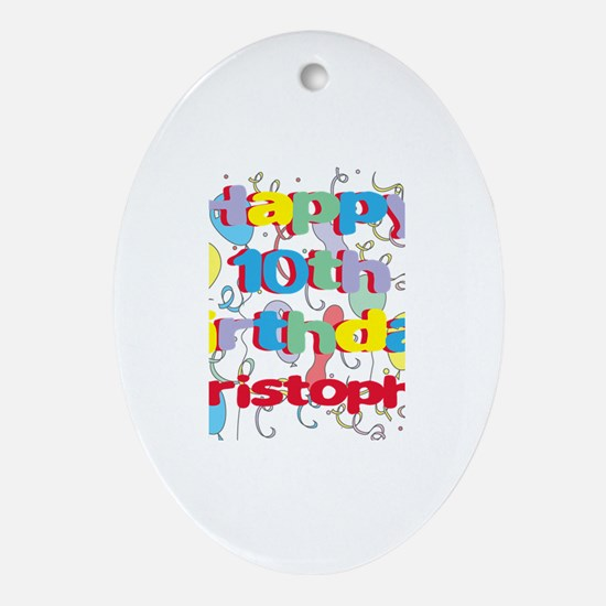 Christopher's 10th Birthday Oval Ornament