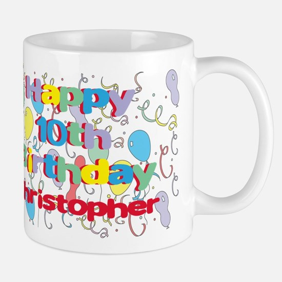 Christopher's 10th Birthday Mug