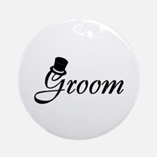 Groom (Top Hat) Ornament (Round)