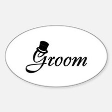 Groom (Top Hat) Oval Decal