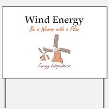 Wind Energy Yard Sign