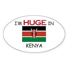 I'd HUGE In KENYA Oval Decal