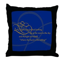 Looking At Stars In Bed Throw Pillow