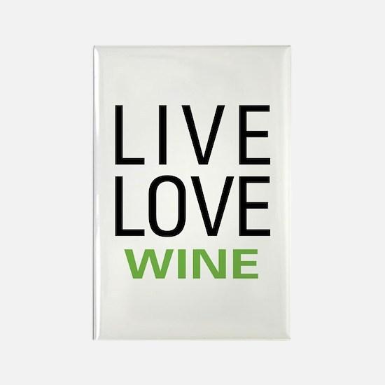 Live Love Wine Rectangle Magnet