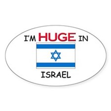 I'd HUGE In ISRAEL Oval Decal