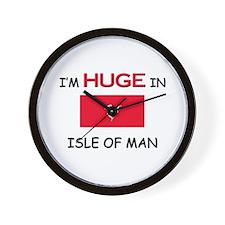 I'd HUGE In ISLE OF MAN Wall Clock