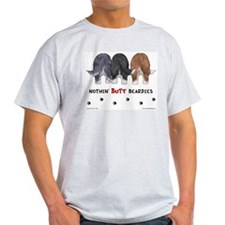 Nothin' Butt Beardies Ash Grey T-Shirt