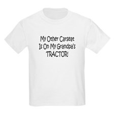 Carseat On Grandpas Tractor T-Shirt