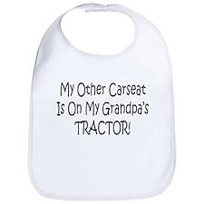 Carseat On Grandpas Tractor Bib