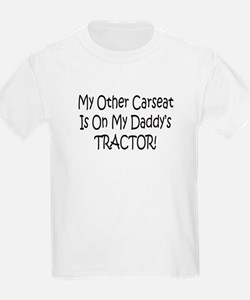 Carseat On Daddys Tractor T-Shirt