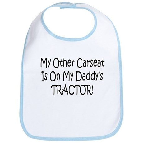 Carseat On Daddys Tractor Bib