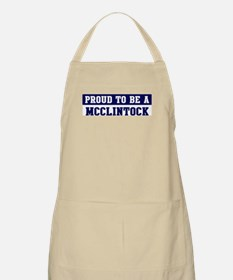 Proud to be Mcclintock BBQ Apron