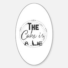 Unique Cake lie Sticker (Oval)