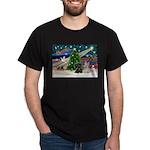 XmasMagic/2 Scotties (P3) Dark T-Shirt