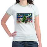 XmasMagic/2 Scotties (P3) Jr. Ringer T-Shirt