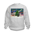 XmasMagic/2 Scotties (P3) Kids Sweatshirt