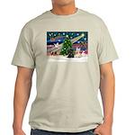 XmasMagic/2 Scotties (P3) Light T-Shirt