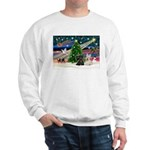 XmasMagic/2 Scotties (P3) Sweatshirt