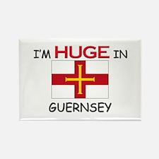 I'd HUGE In GUERNSEY Rectangle Magnet (10 pack)