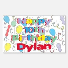 Dylan's 10th Birthday Rectangle Decal