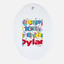 Dylan's 10th Birthday Oval Ornament