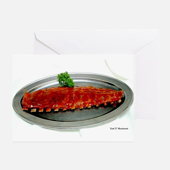 Ribs Long End Greeting Cards (Pk of 10)