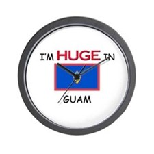 I'd HUGE In GUAM Wall Clock