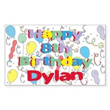 Dylan's 8th Birthday Rectangle Decal