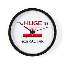 I'd HUGE In GIBRALTAR Wall Clock