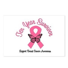 Breast Cancer (10 Yrs) Postcards (Package of 8)