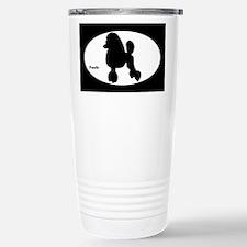 Poodle Silhouette Travel Mug