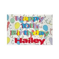 Hailey's 10th Birthday Rectangle Magnet