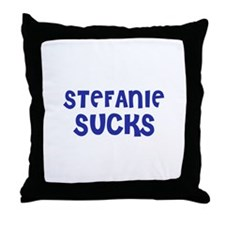 Stefanie Sucks Throw Pillow